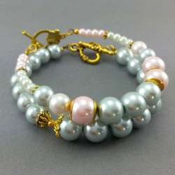 Bransoletki pastelowe perły